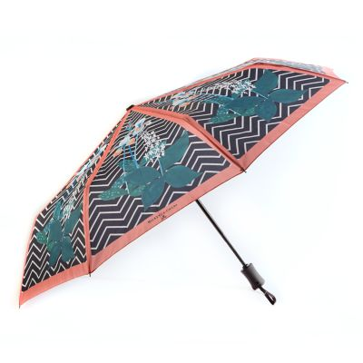 Wood Iris Travel Umbrella