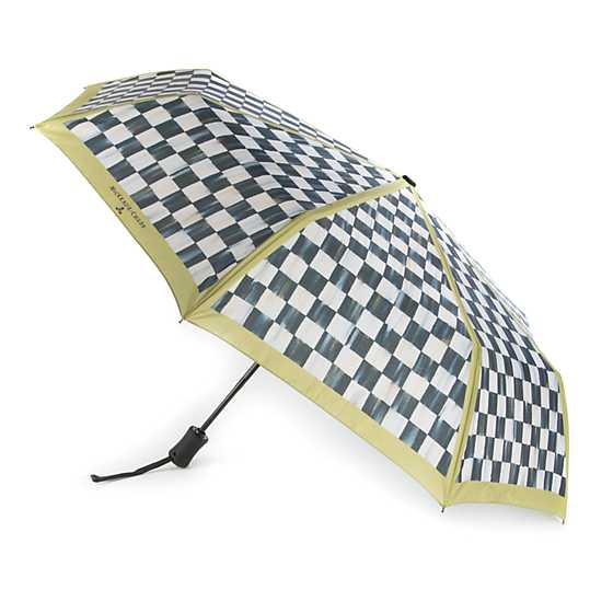 Courtly Check Travel Umbrella image three