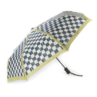 Courtly Check Travel Umbrella