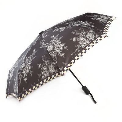 Wild Rose Travel Umbrella - Black