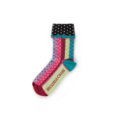 Ribbon & Dot Ankle Socks