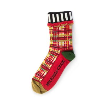 Red Tartan Ankle Socks