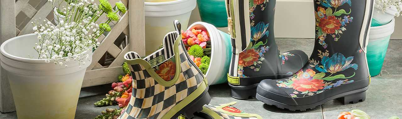 Flower Market Rain Boots - Tall - Size 5 Banner Image
