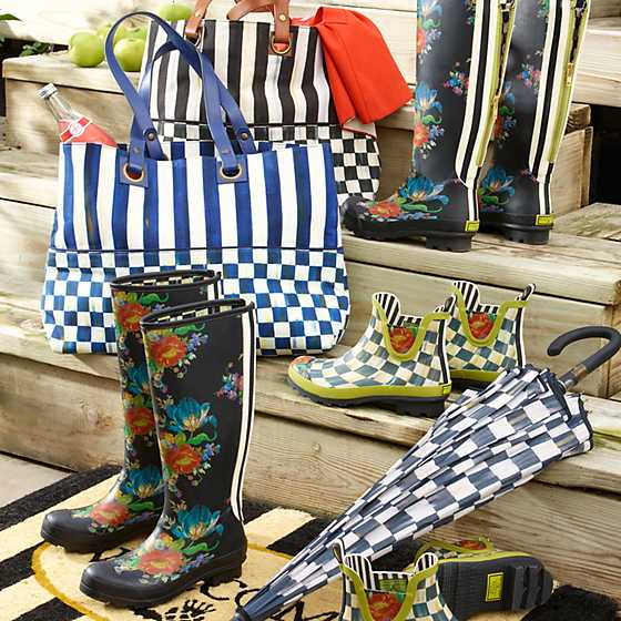 Courtly Check Rain Boots - Short - Size 8 image six