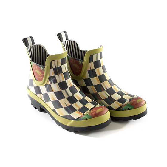 Courtly Check Rain Boots - Short - Size 9