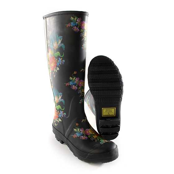 Flower Market Rain Boots - Tall - Size 6 image four