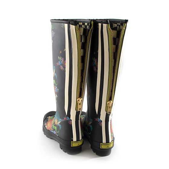Flower Market Rain Boots - Tall - Size 10 image three