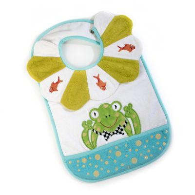 Toddler's Bib - Bow Tie Frog