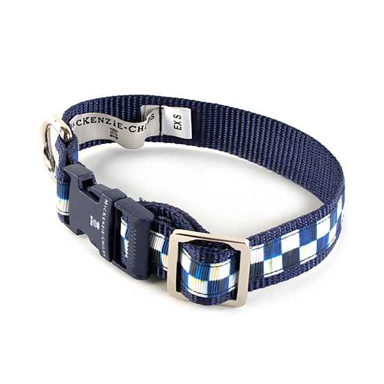 Royal Check Pet Collar - Extra Small image one