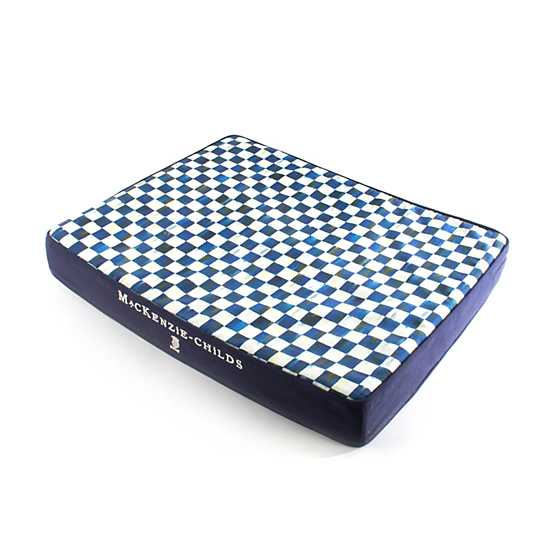 Royal Check Pet Bed - Blue - Small image one