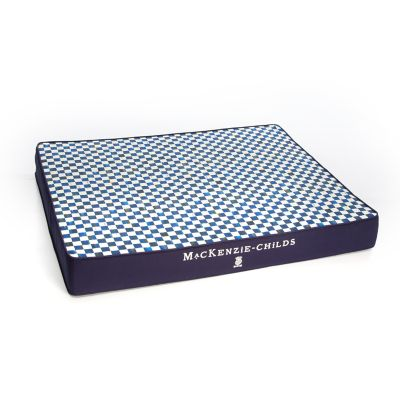 Royal Check Pet Bed - Blue - Large