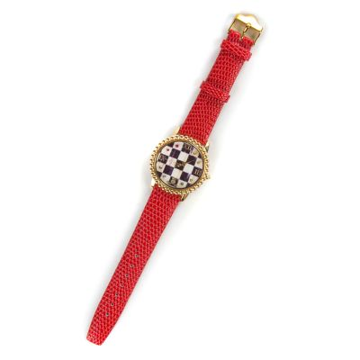 Courtly Check Round Watch