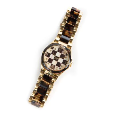 Courtly Check Boyfriend Watch - Golden