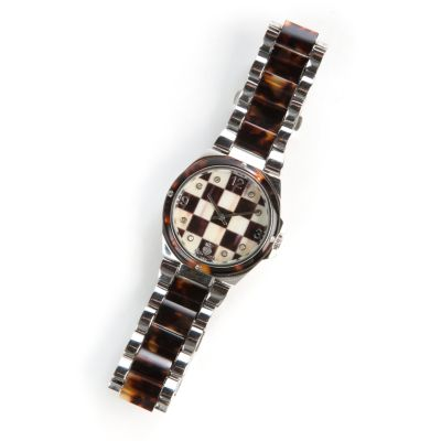 Courtly Check Boyfriend Watch - Stainless Steel