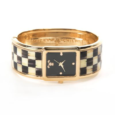 Courtly Check Bangle Watch - Golden