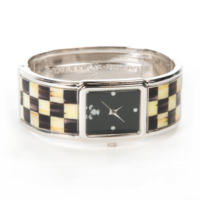 Courtly Check Bangle Watch - Rhodium