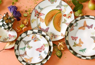 Butterfly Garden Enamelware Features A Colorful Flutter Of Hand Applied  Butterflies. Each One Shows Off A Signature MacKenzie Childs Pattern As It  Flits ...