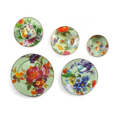 Green Flower Market Dinnerware