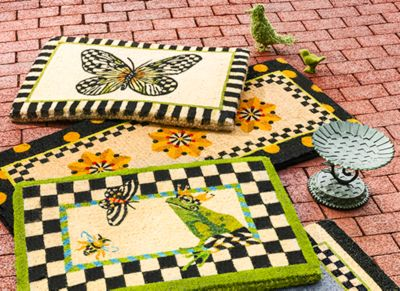 Flower Market Double Door Entrance Mat Set Image 0