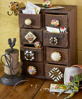 Petit Four Square Knob - Rose Set Image 1