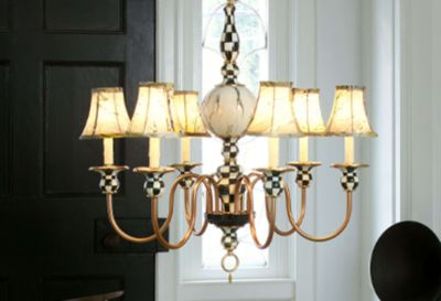 Polka Dot Chandelier Shade - Navy Set Image 2
