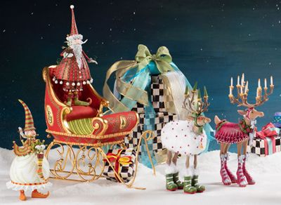Patience Brewster Dash Away Dancer's Elf Mini Ornament Set Image 0
