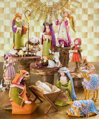 Patience Brewster Nativity Manger Ram Figure Set Image 1