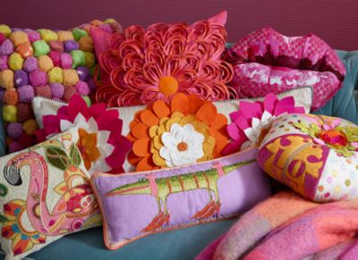 Covent Garden Floral Square Pillow - White Set Image 0