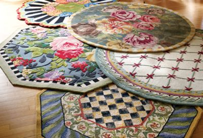 Tudor Rose Rug - 6' Octagon Set Image 2