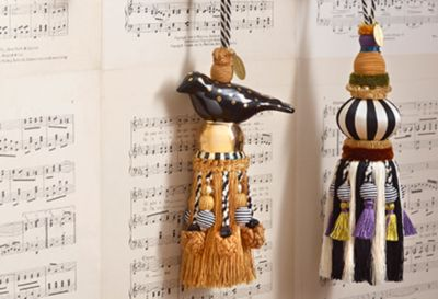 Ceramic Bird Tassel - Rose Set Image 2