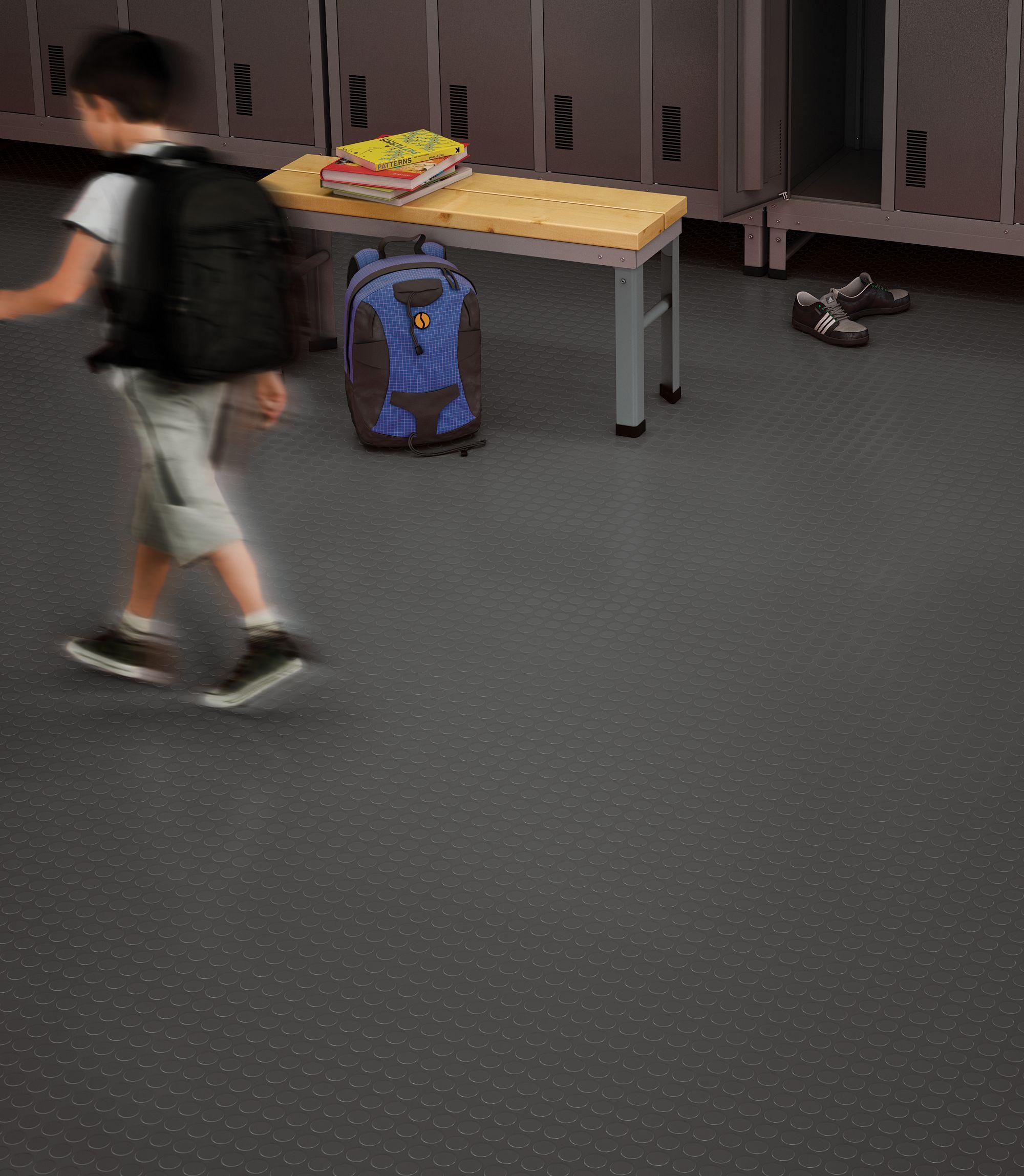Rubber Flooring - Master Step Round - Platinum Gray   Mohawk