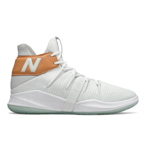 Mens OMN1S Basketball Shoes - White/Tan/Blue (BBOMNXST)