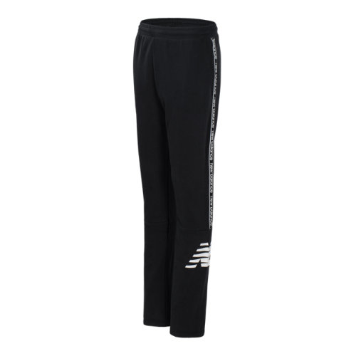 New Balance 18238 Kids' French Terry Track Pant - Black (BP18238BK)