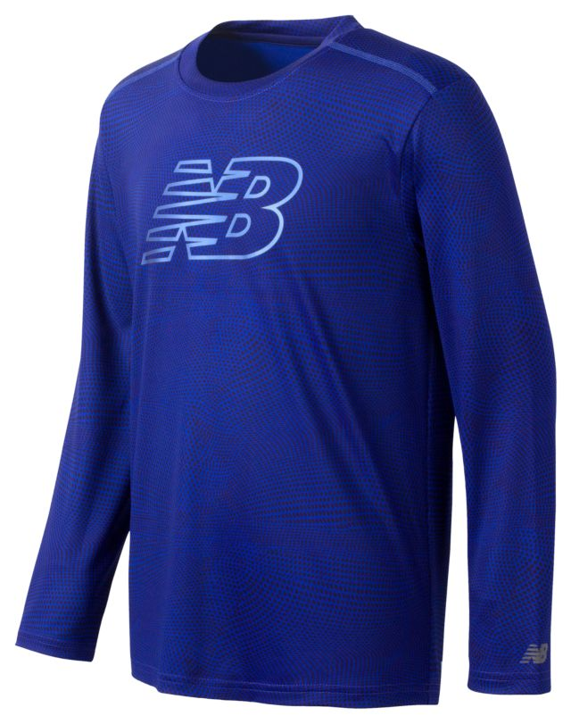 Boys Long Sleeve Printed Performance Tee