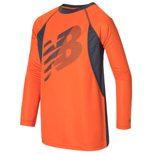 New Balance 15235 Kids' Long Sleeve Performance Tee - Orange (BT15235BTT)