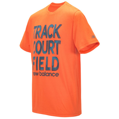 New Balance 16601 Kids' Short Sleeve Graphic Tee - Orange (BT16601AO)