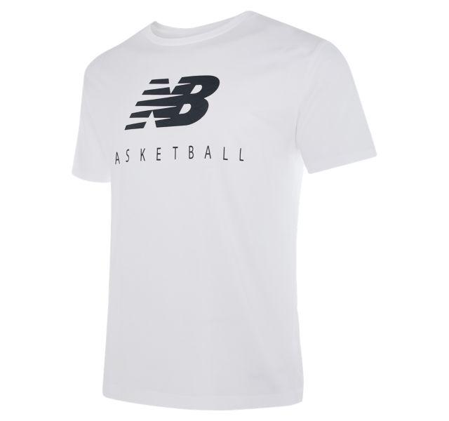 Men's NB Basketball Blacktop Stacked Tee