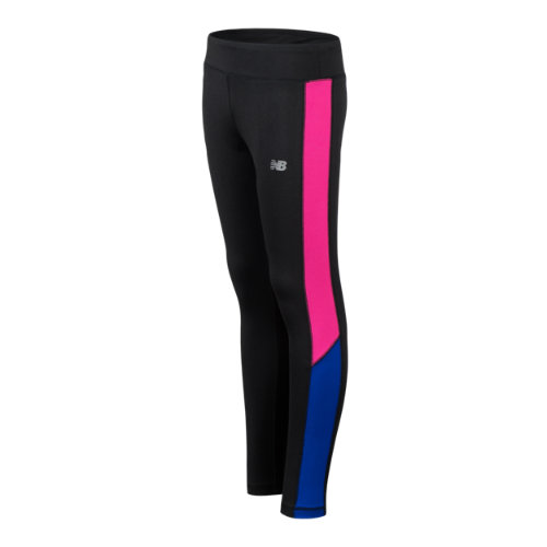 New Balance 15286 Kids' Fast Track Tight - Black/Pink/Blue (GP15286BK)