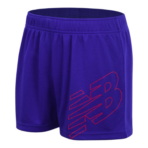New Balance 18229 Kids' Core Performance Short - Blue (GS18229UVB)