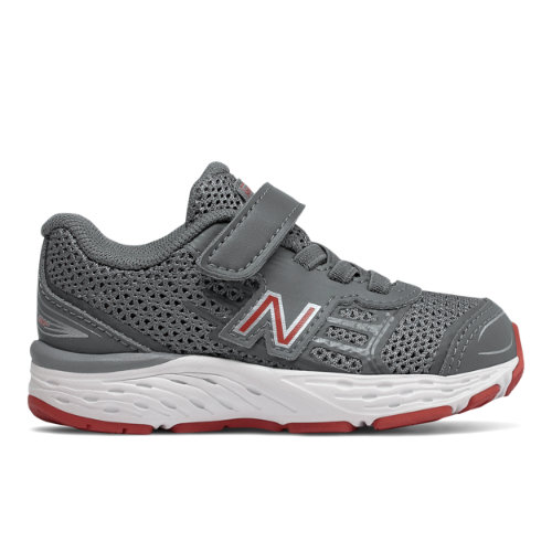 680v5 Kids' Infant and Toddler Running Shoes - Grey/Red (IA680LR)