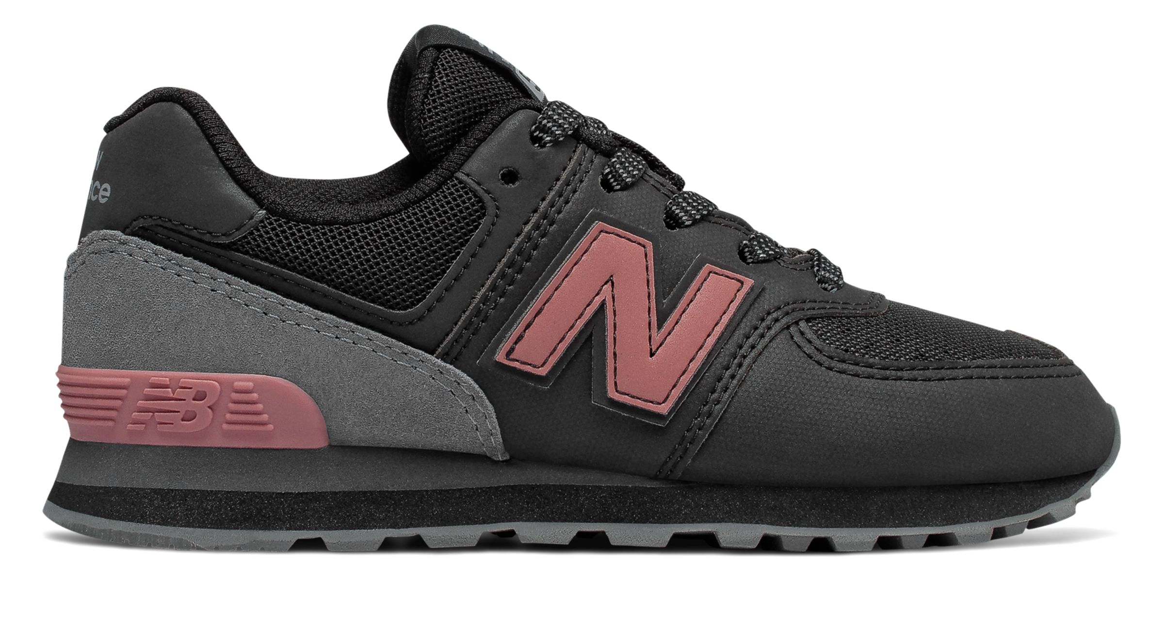c1bcfa5d805cc New Balance Kid's 574 Day and Night Infant Girls Shoes Black with ...