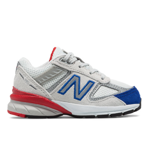 990v5 Kids' Infant and Toddler Running Shoes - Grey/Blue (IC990NB5)