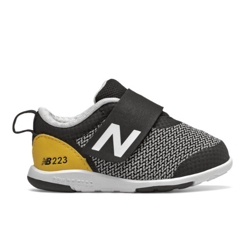 223 Kids' Infant and Toddler Lifestyle Shoes - Black/Yellow (IO223BKY)