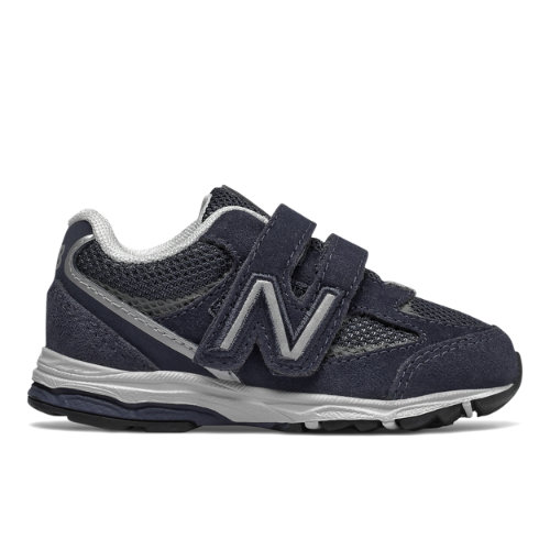 Hook and Loop 888v2 Kids' Infant and Toddler Running Shoes - Navy/Grey (IO888NG2)