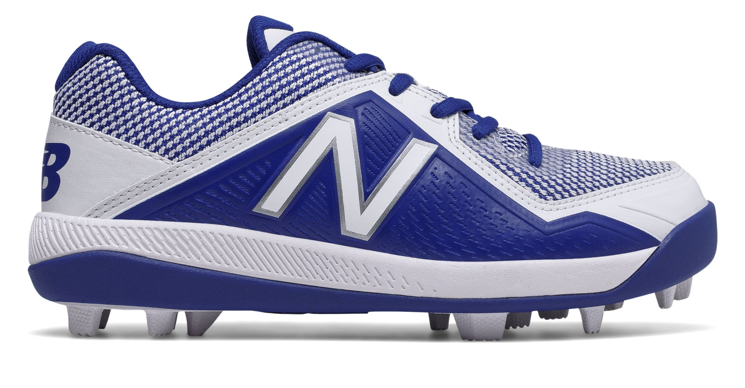 d3f0a57a1163 New Balance Kid's Low-Cut 4040V4 Rubber Molded Baseball Cleat Big ...