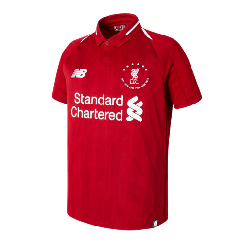 New Balance 930501 Kids' Signature LFC 18/19 Home SS JNR Jersey - Black (JT930501HME)