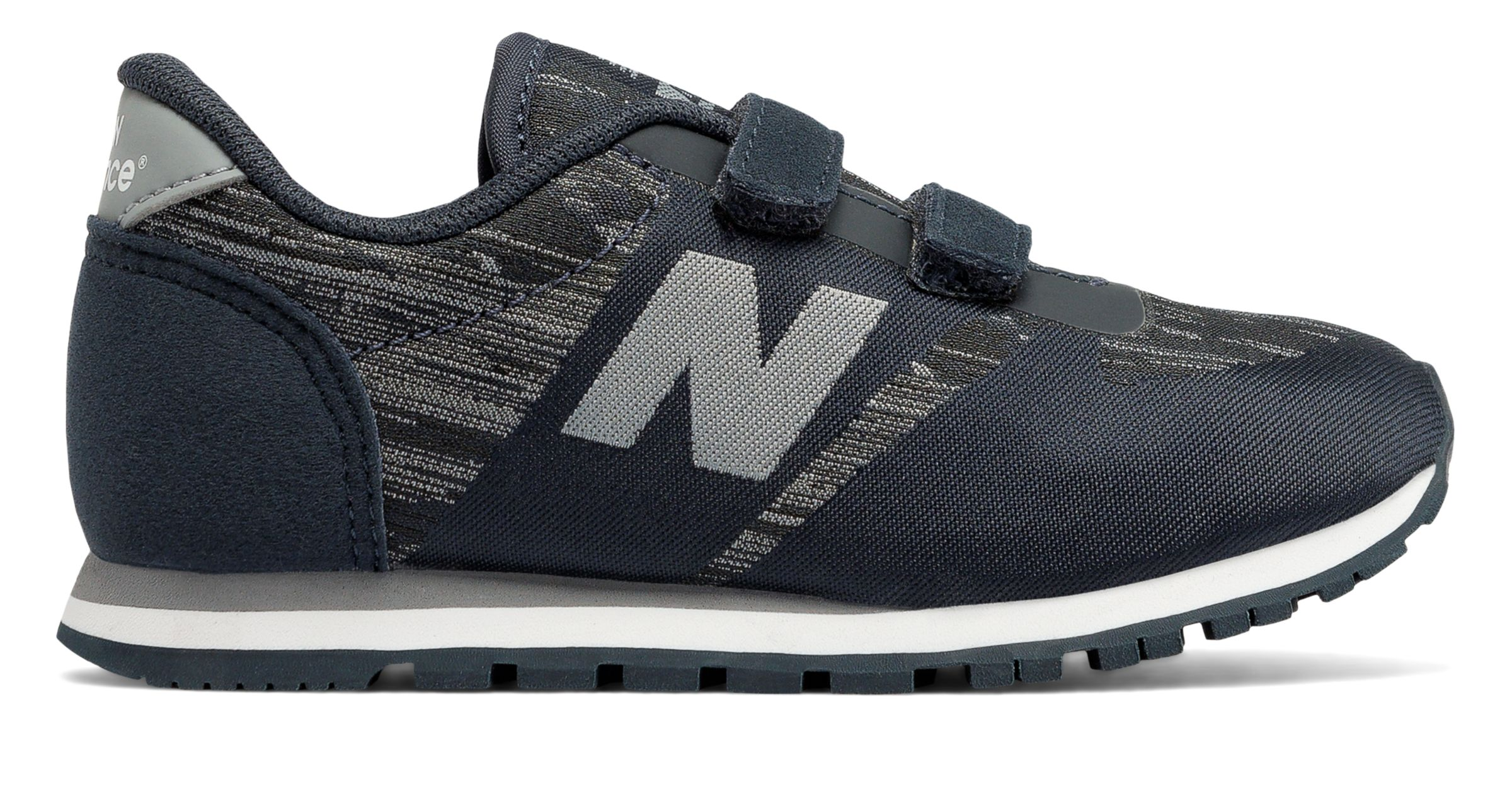 c9098125d6458 New Balance Kid's 420 Hook and Loop Infant Boys Shoes Black with ...