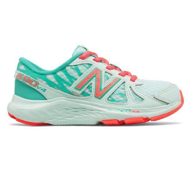 New Balance 690v4 Girls Pre School Shoes (Mint)