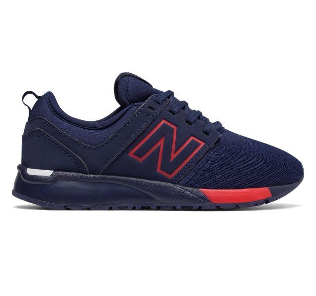 Retro New Balance 247 Boys Grade School Running Shoes NavyNavy