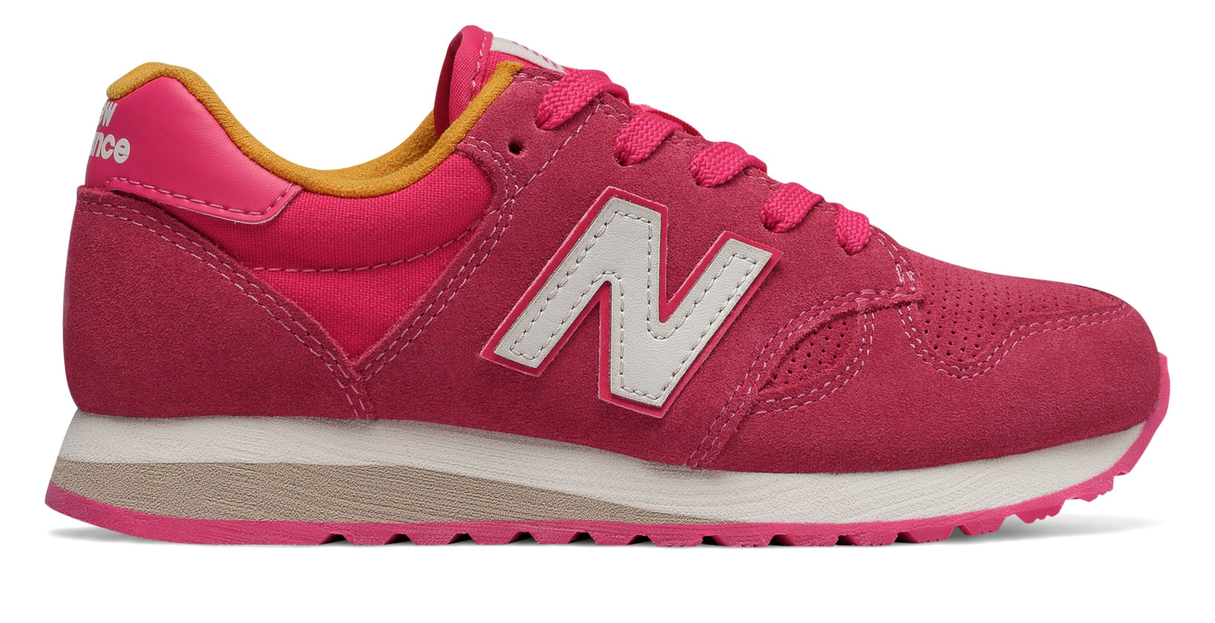767ce55d3c New Balance Kid's 520 Big Kids Female Shoes Pink with Yellow | eBay